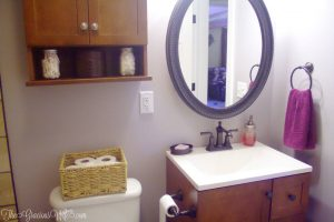 Our FULL DIY bathroom remodel. We redid everything from the plumbing and walls to totally revamping the look and adding lots of bathroom storage.
