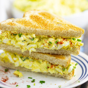 Classic egg salad should be creamy, tangy, and perfect for sandwiches. This delicious homemade recipe is easy to make and the best you'll ever have!