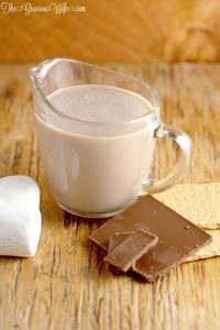 Homemade Smores Coffee Creamer - a tasty sweet homemade coffee creamer recipe, perfect for a Summer morning breakfast.