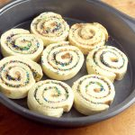 Birthday Confetti Cinnamon Rolls - super quick and easy breakfast recipe idea with just 2 ingredients! So cute! I'm making these for the kiddos this year for sure!