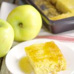 Simple and quick Apple Cornbread recipe with just 4 ingredients! Cornbread with classic apple pie filling and a touch of vanilla. Perfect with warm melted butter and a dollop of sweet honey. What a perfect Fall side dish!