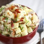 Creamy Slow Cooker Potatoes with Sausage and Chives