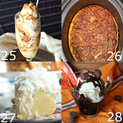 Free up your oven while warming up with these 36 Crockpot Desserts Recipes. These desserts will bake themselves in the slow cooker while you prep the meal! Crockpot dessert recipes with everything from cakes, cheescakes, and puddings. Chocolates, sweets, and fruit! These look so amazing!