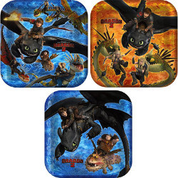 How to Train Your Dragon dinner plates