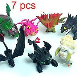 How to Train Your Dragon figurines