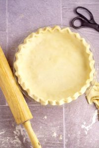 Don't be intimidated by making or Rolling Out Pie Crust any longer! This easy tutorial will show just how easy homemade pie crust can be! With a simple, step-by-step how to roll out pie crust tutorial, and an easy 3-ingredient flaky, no-fail pie crust recipe.