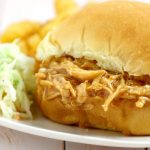 Crockpot Barbecue Chicken Sandwiches