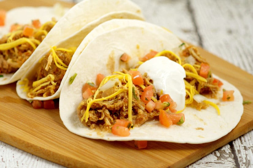 Easy but flavorful Crockpot Chicken Tacosrecipe is a true fix-it-and-forget meal, with just 5 ingredients. Top these zesty chicken tacos with cheese, sour cream, and pico de gallo for a full family slow cooker meal! Love this! So easy!