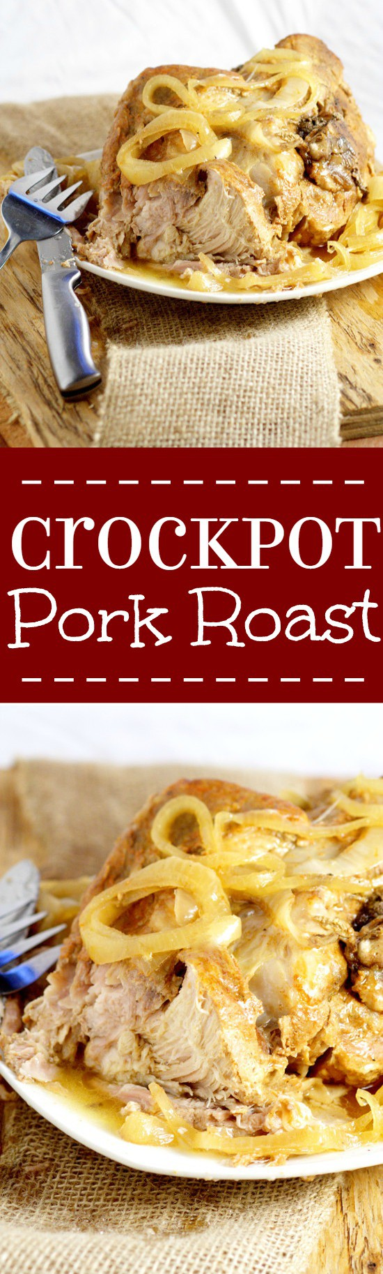Tender, juicy Crockpot Pork Roastrecipe with added zing from soy sauce and red wine vinegar is a perfect low maintenance easy dinner idea for family and company. Pair it with your classic mashed potatoes and veggies for a cozy meal.