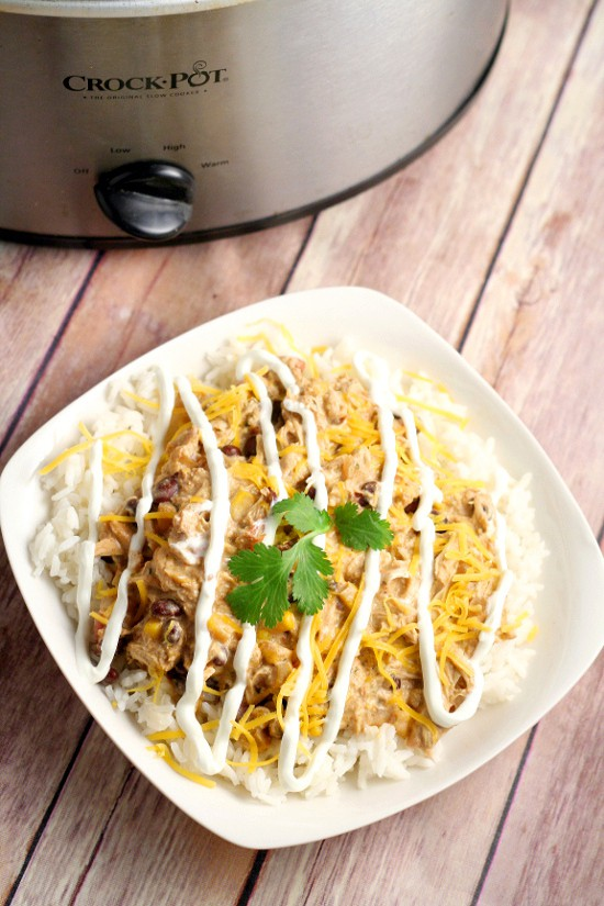 Crockpot Southwest Chicken Chili recipe is so easy you don't have to thaw the chicken! With cream cheese and classic Southwest flavors like corn and beans. Serve with warm, buttered cornbread. Such an easy family dinner recipe idea in the slow cooker!