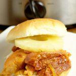 Hawaiian Crockpot Ham Sandwiches