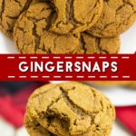 Classic Gingersnaps with a bold spicy cinnamon and ginger flavor, crispy edges and a chewy center are easy to make and the perfect holiday cookie! A must make for Christmas and cookie exchanges!