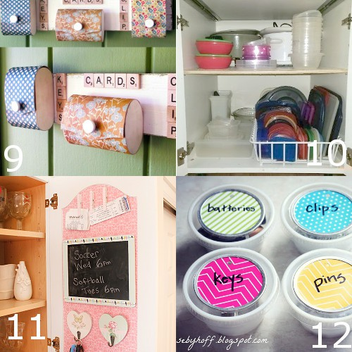11 Ideas For A Perfectly Organized Kitchen: 35 DIY Home Organizing Ideas