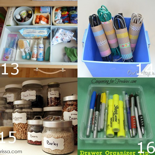 DIY Home Organization Ideas. Use these amazing and helpful DIY Home Organizing Ideas to stay organized and keep a happier and healthier home (Plus. save some sanity, too!) These are such cute cute ideas! Can't wait to try some!