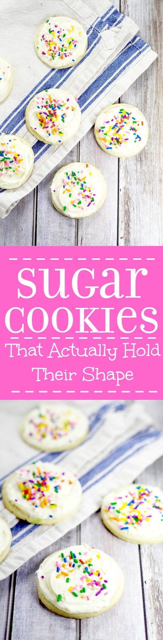 Sugar Cookies that Hold Their Shape.My grandma's recipe for the BEST soft, chewy sugar cookies that hold their shape. We use this recipe for perfect sugar cookies for Christmas, birthdays, and every time there's a sugar cookie craving.