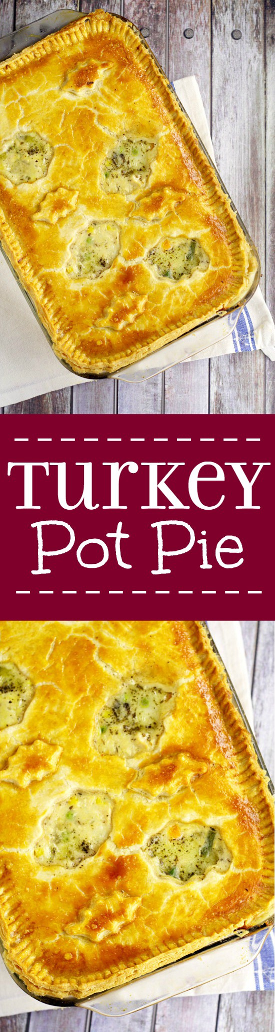 The BEST way to use up leftover turkey is this homemade Turkey Pot Pie recipe with creamy comfort food pot pie filling, turkey, vegetables, and golden flaky crust. Great for a delicious family dinner recipe. Mmmm... Looks delicious!