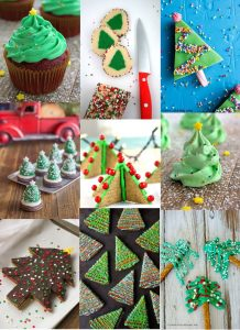 Nothing is more fun than Christmas trees during the holidays! Have your Christmas tree and eat it too with these beautiful and fun Christmas Tree Treats! Adorable Christmas dessert recipes! Oooh, I'll be trying a couple of these for my kids' school party.