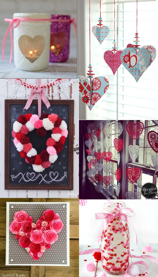 Valentines Day Decorations Part - 24: 36 DIY Valentineu0027s Day Decorations Ideas. Pretty Hearts And Roses, Pinks  And Reds,