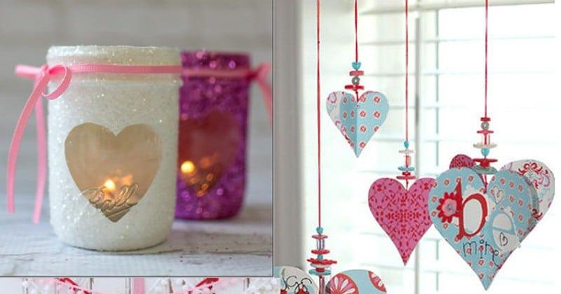 Valentine 39 s day heart paper garland 2 tutorials the for Valentine day decoration ideas