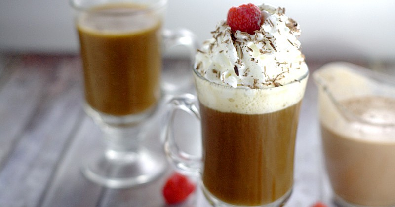 Homemade Coffee Creamer Recipes. Homemade Chocolate Raspberry Coffee Creamer.Rich, decadent Homemade Chocolate Raspberry Coffee Creamer with smooth, creamy chocolate and a fruity kick of raspberries is sure to transform your coffee into an amazing, indulgent treat. Make some gourmet coffee at home! This would be delicious for Valentine's Day too!