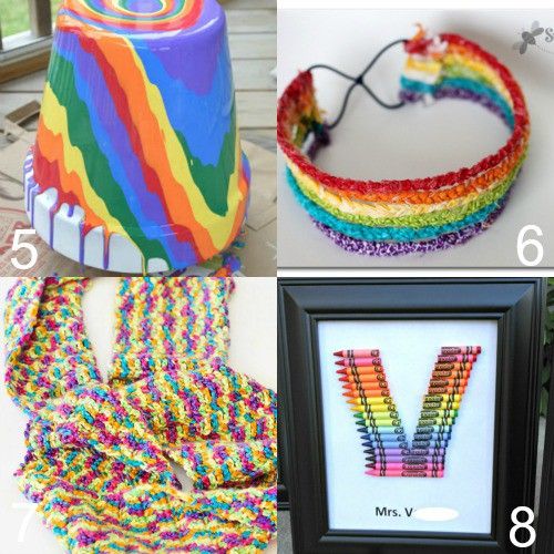 Pretty and fun DIY Rainbow Crafts.The BEST DIY Rainbow Crafts from indoor and outdoor decorations to fashion, headbands, and totes. These rainbow crafts will brighten up your life, and you'll love them all! Love these!