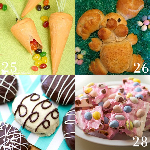 Adorable Easter Treats ideas with bunnies, bird nests, carrots, creme eggs, and more are sure to make your kids happy and your Easter celebration special. Aww these are so cute! Can't wait to make some!
