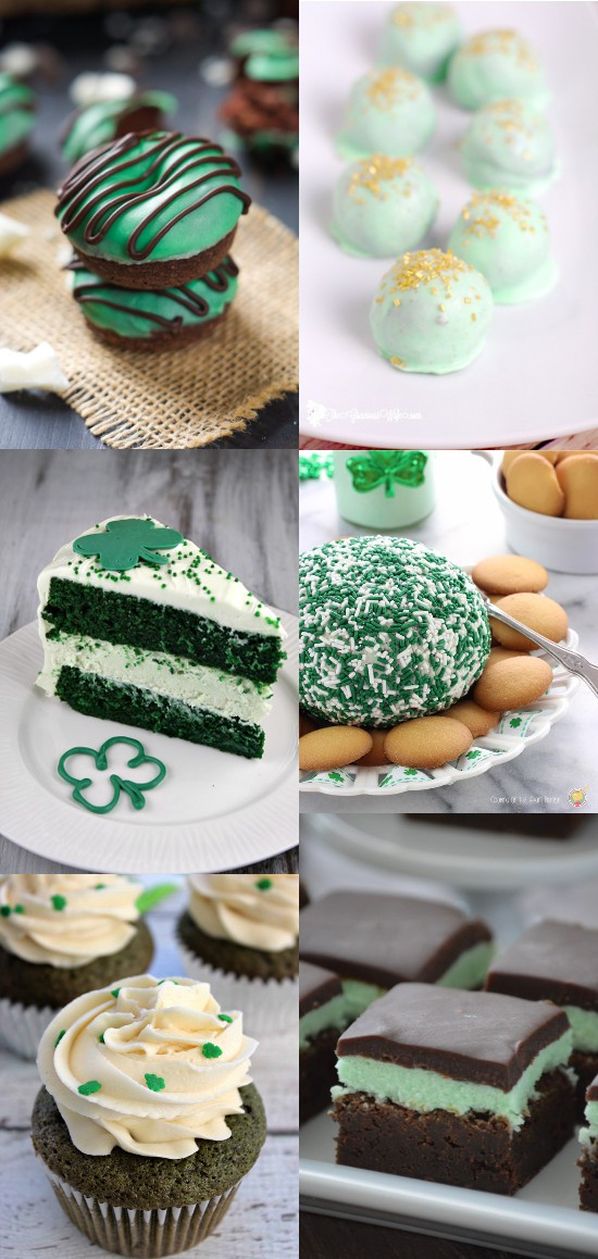 Green Treats for St Patrick's Day.  Minty and chocolate or sweet and fun these lucky, pinch-proof Green Treats for St Patrick's Day are sure to be a hit with the kids and the whole family!
