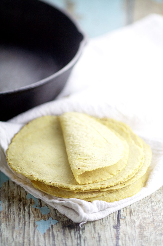 Soft, fresh Homemade Corn Tortillas are easy to make with just 2 ...