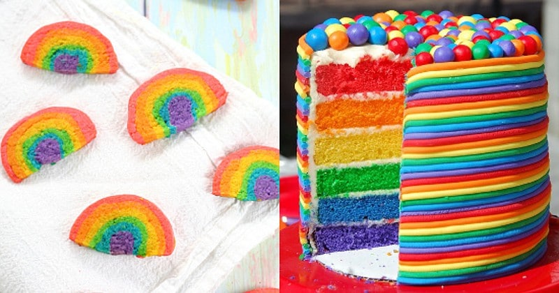 Rainbow Recipes.Fun and delicious Rainbow Recipes and treats that are perfect for St Patrick's Day or a rainbow birthday party! The kids are sure to go crazy over these! I seriously love these!