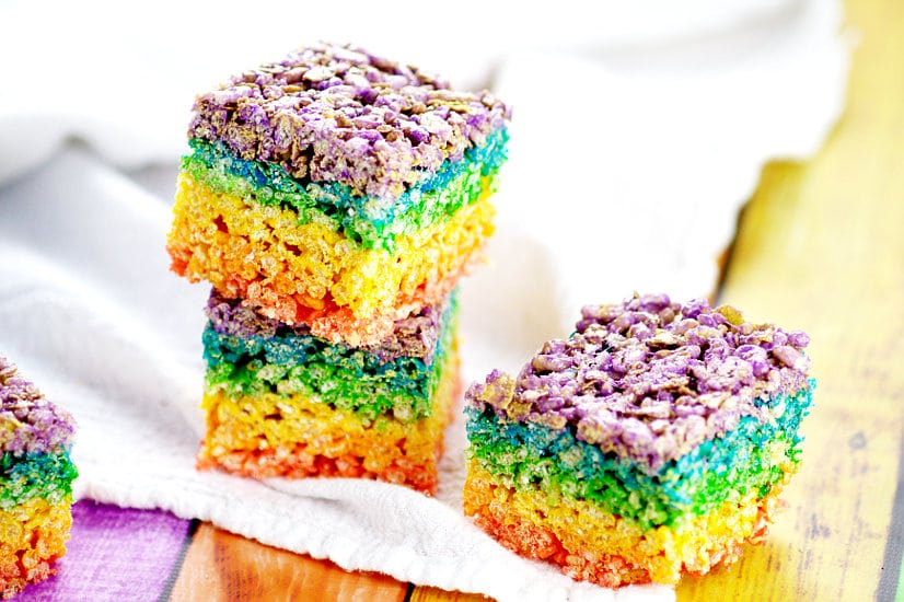 Rainbow Rice Krispie Treats | The Gracious Wife