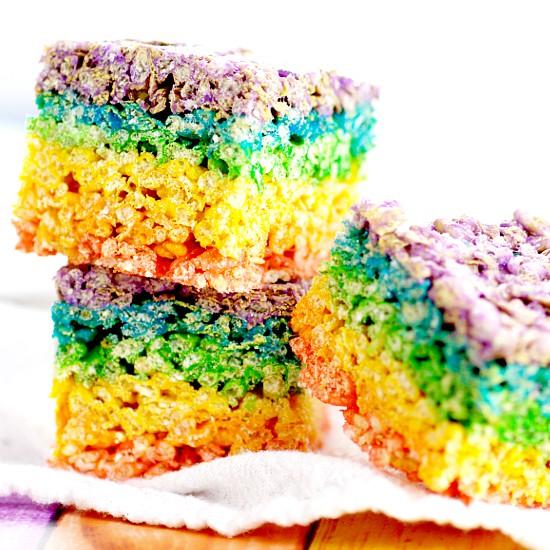 Rainbow Rice Krispie Treats