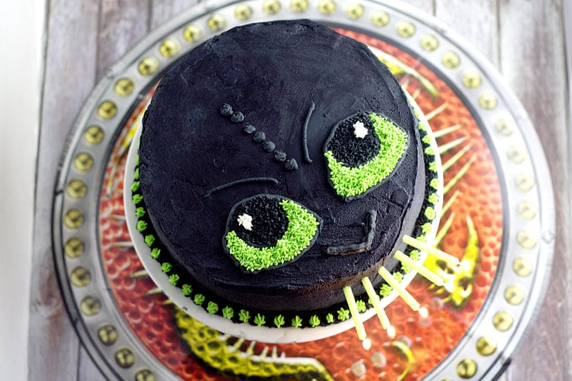 Easy Toothless Dragon Cake