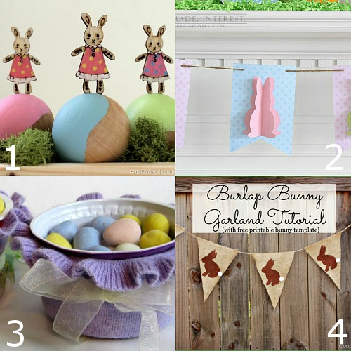DIY Easter Decorations.  Pretty and bright DIY Easter Decorations that will bring a touch of cheery Spring into your home for Easter. These are so cute and easy!