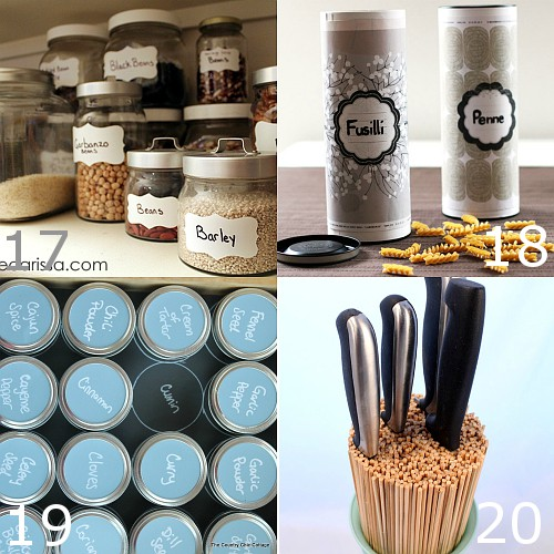 DIY Kitchen Organization ideas to make your kitchen amazing, even if you're on a budget.Freshen up your kitchen with these ingenious DIY Kitchen Organization ideas to knock out the clutter and make your kitchen beautiful. Great ideas!