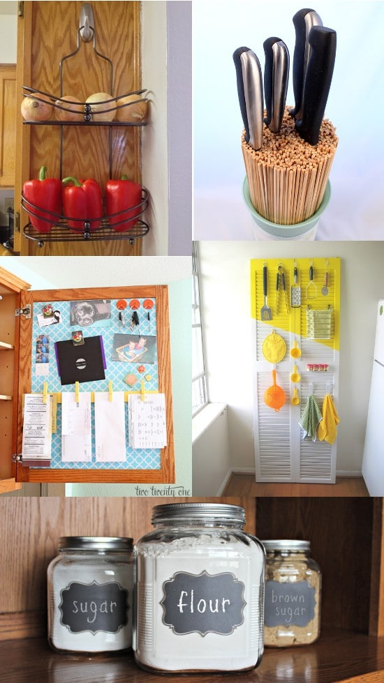 DIY Kitchen Organization ideas to make your kitchen amazing, even if you're on a budget. Freshen up your kitchen with these ingenious DIY Kitchen Organization ideas to knock out the clutter and make your kitchen beautiful. Great ideas!