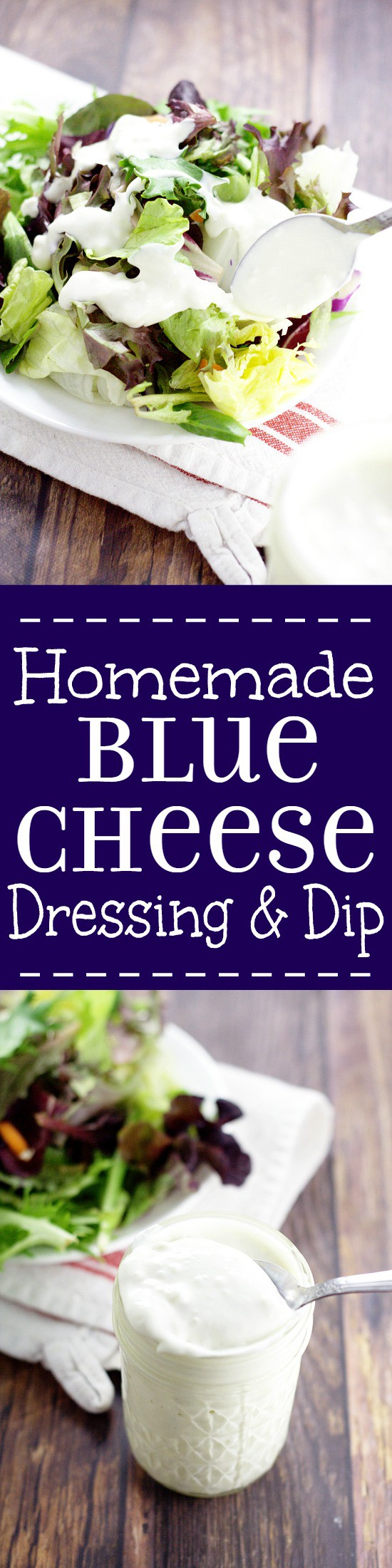 Homemade Buttermilk Blue Cheese Dressing and Dip.This creamy, rich Homemade Buttermilk Blue Cheese Dressing recipe is the perfect dip for hot wings or dressing for your favorite salad. Definitely trying this!