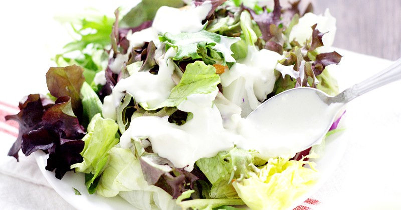 Homemade Buttermilk Blue Cheese Dressing fb