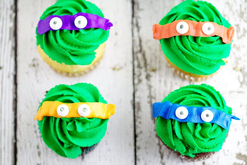 Teenage Mutant Ninja Turtles Cupcakes The Gracious Wife