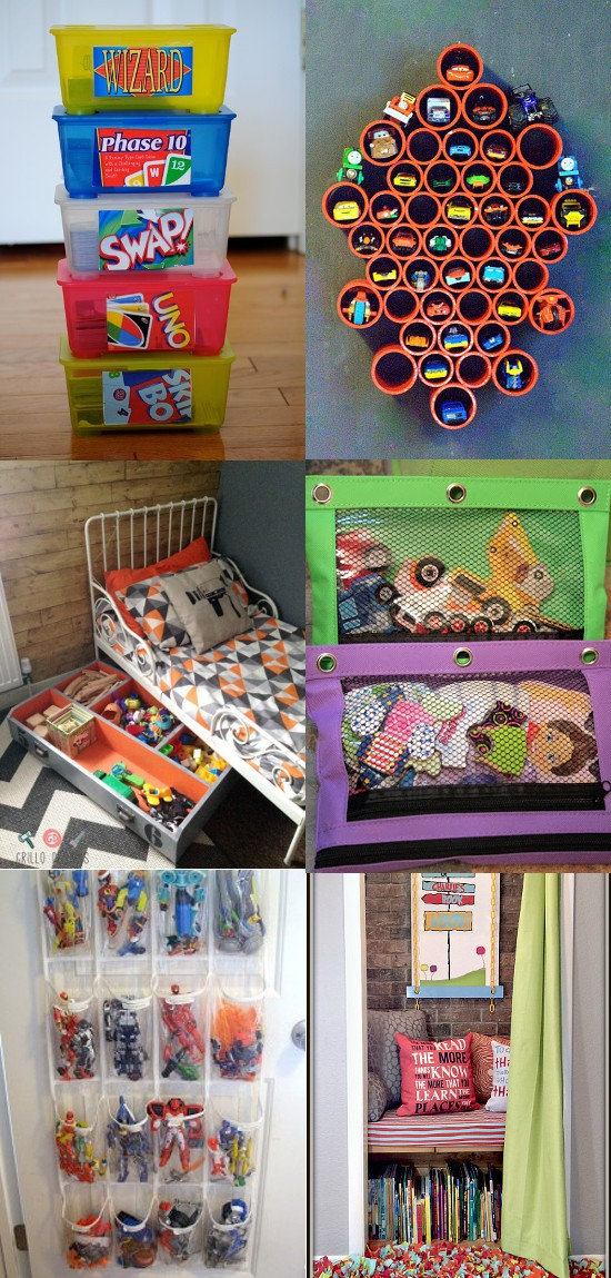 11 Tips For Keeping Kids Toys Organized: 20 DIY Toy Organization Ideas