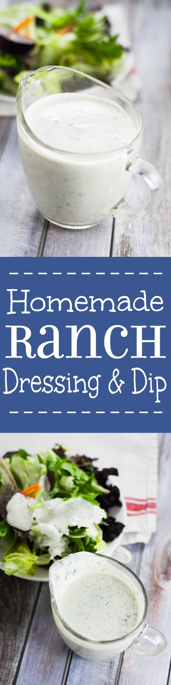 Homemade Ranch Dressing from Scratch is a heavenly topping for your green salad or dipping sauce for your favorite snacks or wings. I LOVE Ranch. This looks amazing!