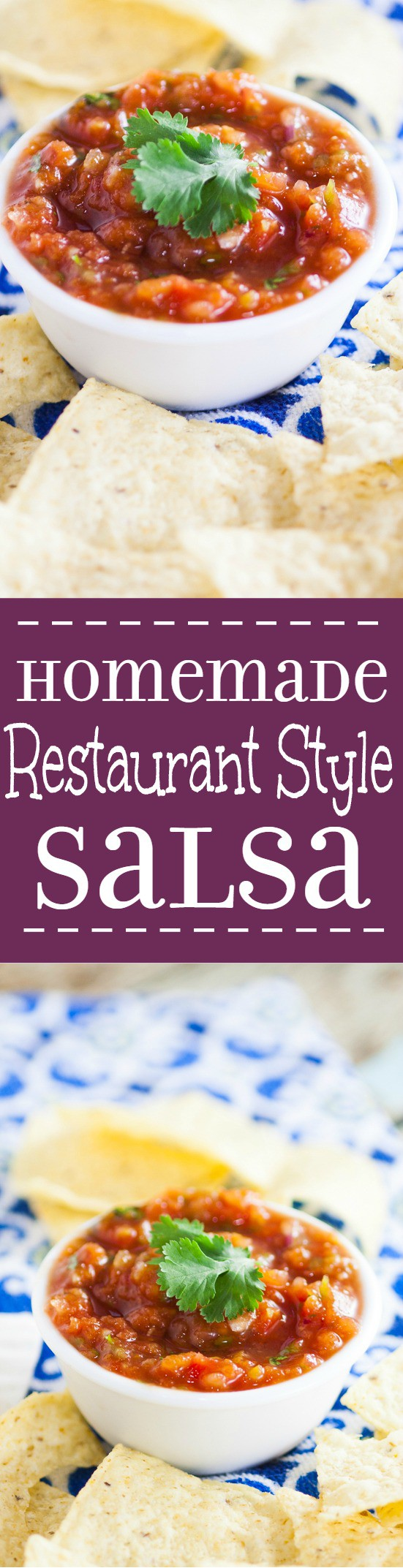 Homemade Restaurant Style Salsa is the perfect dip recipe to feed a crowd. Make your own Homemade Restaurant Style Salsa in minutes that's just as delicious as your favorite Mexican restaurant. Fresh, tasty, easy and perfect to feed a large crowd. This looks delicious!