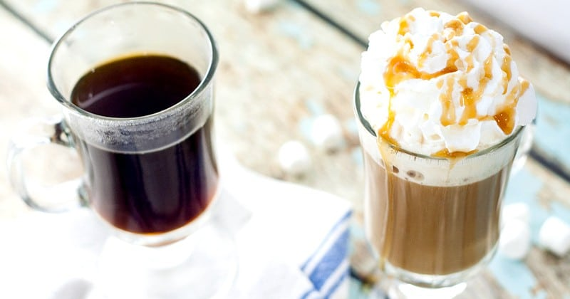 Homemade Caramel Marshmallow Coffee Creamer recipe -Light and creamy marshmallow and decadently sweet caramel swirl together to make this Homemade Caramel Marshmallow Coffee Creamer perfect for your next cup of coffee. Sounds like coffee creamer heaven!