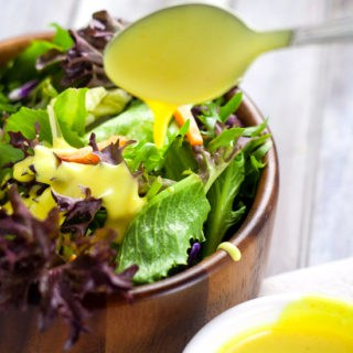 Homemade Honey Mustard Dipping Sauce and Salad Dressing recipe - Creamy, sweet, and tangy, this Homemade Honey Mustard Dipping Sauce will be your new favorite go-to sauce and dressing for EVERYTHING.  This is so good.  I absolutely LOVE dipping my chicken in it.