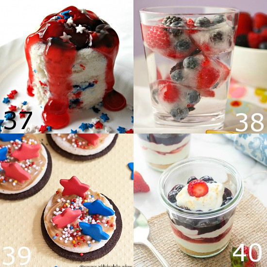 72 Red, White and Blue Recipes that are perfect for 4th of July, Memorial Day, Labor Day, or all Summer long. Show your patriotic spirit with these 72 fun red, white, and blue Patriotic Recipes that are just perfect for celebrating all Summer long.  Come pick your favorite to make this year!