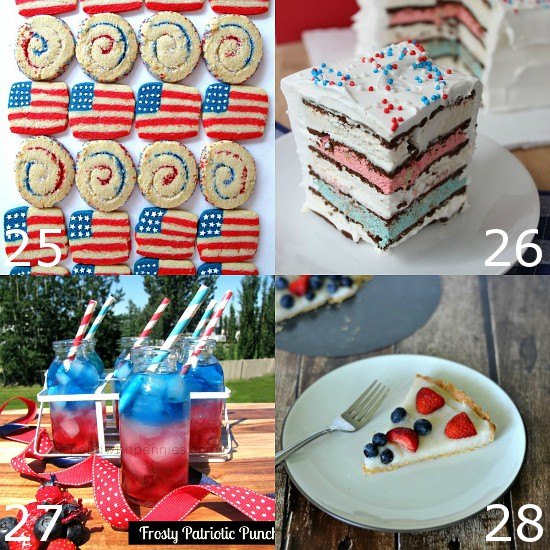 72 Red, White and Blue Recipes that are perfect for 4th of July, Memorial Day, Labor Day, or all Summer long.Show your patriotic spirit with these 72 fun red, white, and blue Patriotic Recipes that are just perfect for celebrating all Summer long. Come pick your favorite to make this year!