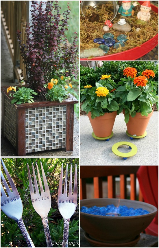 Summer DIY Backyard Projects -32 frugal, fun, and easy DIY Backyard Projects for Summer to add some eye-catching fun and curb appeal to your home and yard. Love these ideas. They'll make our yard look so pretty!