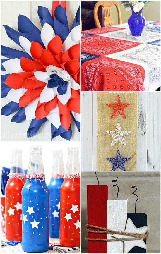 28 diy patriotic decorations the gracious wife. Black Bedroom Furniture Sets. Home Design Ideas
