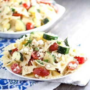 Fresh Zucchini Farfalle Pasta Salad