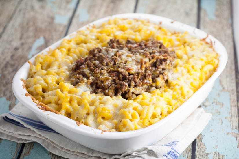 Sloppy Joe Mac and Cheese recipe makes a quick and easy family dinner recipe.Creamy, cheesy mac and cheesecombinedwith tangy and sweet beef sloppy joe in this Sloppy Joe Mac and Cheese recipe to make an ultimate comfort food dinner. Oh. My. Yum! Fabulous!