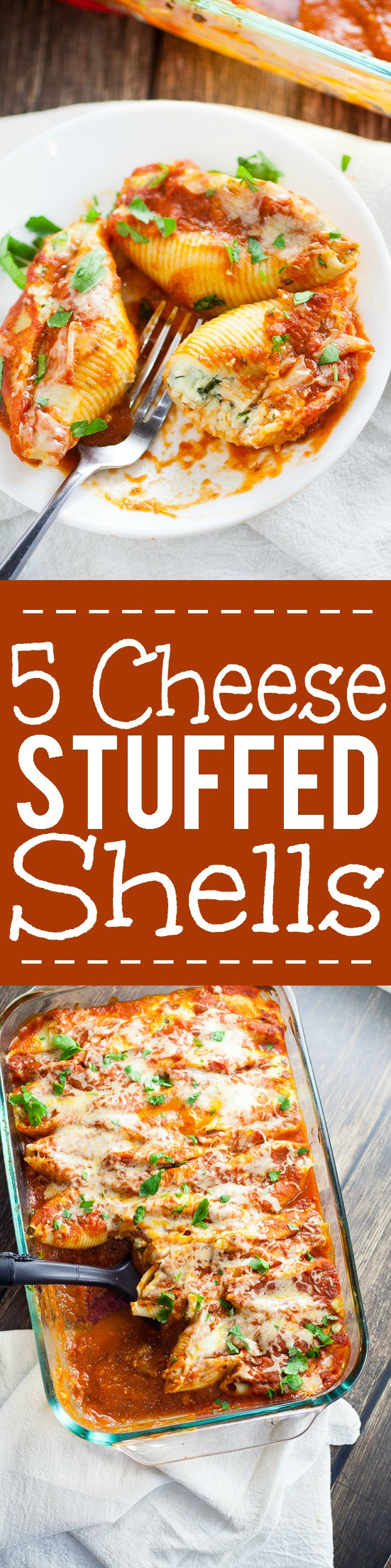 ... sauce this 5 Cheese Stuffed Shells Recipe is creamy, cheesy, and